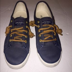 Sperry top-sider suede navy blue sneakers size 7